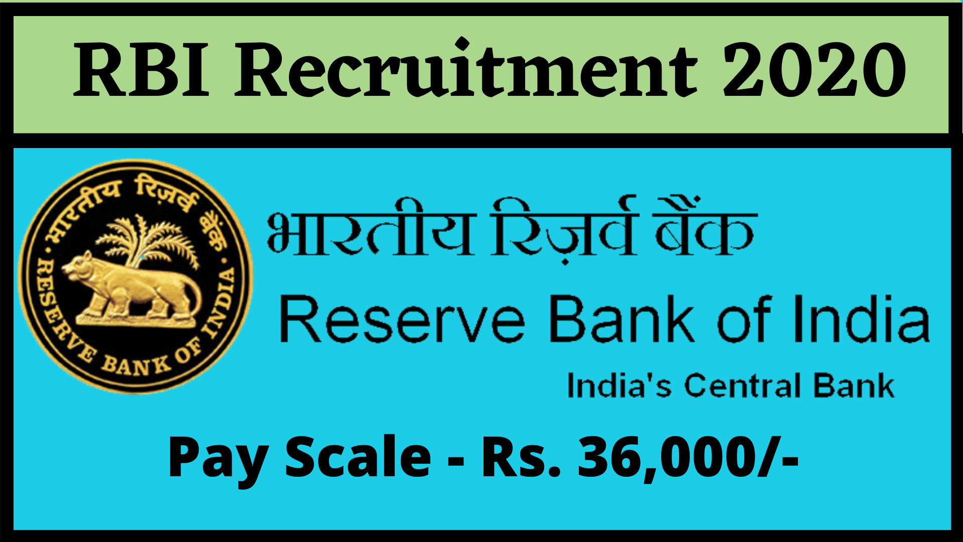 """RBI Recruitment 2019-2020 was released. The Reserve Bank of India invites applications from eligible candidates for 926 posts of """"Assistant"""" ..."""