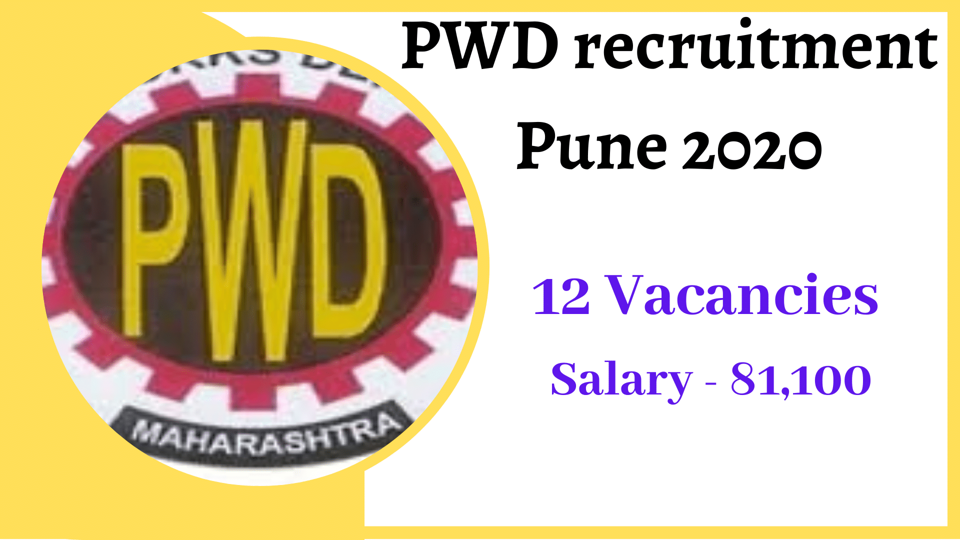 pwd recruitment 2020