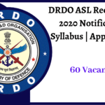 DRDO ASL Recruitment 2020 Notification _ Syllabus _ Apply Online