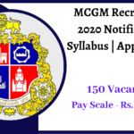 MCGM Recruitment 2020 Notification _ Syllabus _ Apply Online