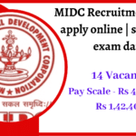 MIDC Recruitment 2020