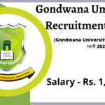 Gondwana University Recruitment 2020 -gondwana university vacancy 2020