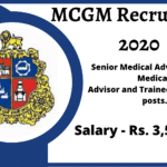 MCGM Recruitment 2020 for 500 posts
