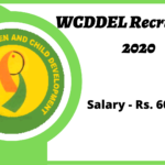 WCDDEL Recruitment 2020