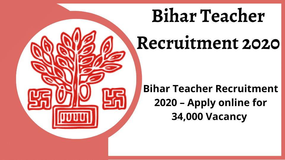 Bihar Teacher Recruitment 2020