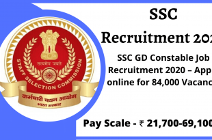 SSC Recruitment 2020 - SSC GD Recruitment 2020