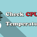 how to check cpu temp