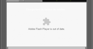 Adobe flash player was blocked